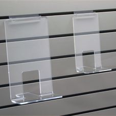 "Clear Solutions 8119 Acrylic 12"" Faceout Slatwall Book Shelf"