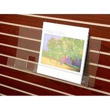 """Clear Solutions 8122 Acrylic 18"""" Book Shelf with Lip for Slatwall"""