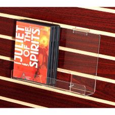Clear Solutions 9828 Acrylic Book / DVD Shelf for Slatwall