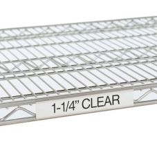 "Metro® 3"" Clear Label Holders for Super Erecta® Shelves"