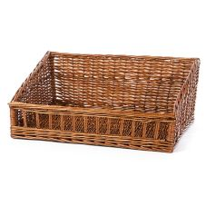"Willow Specialties 83210 23"" x 17"" Willow Cutaway Display Basket"
