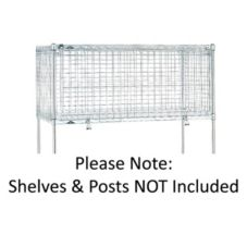 "Metro® SECM2448NC Chrome 20"" Security Module For 24 x 48 Shelves"