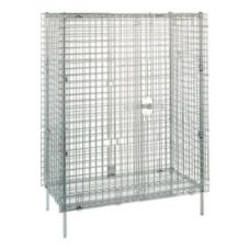 "Metro® Super Erecta® 38""L Stationary Chrome Security Unit"
