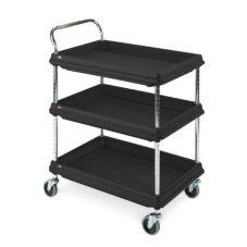 "Metro BC2030-3DBL BC Series Black Deep Ledge 21 x 33"" Utility Cart"