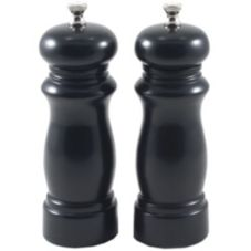 "Chef Specialties 6302 6"" Salem Ebony Salt Mill / Pepper Mill Set"