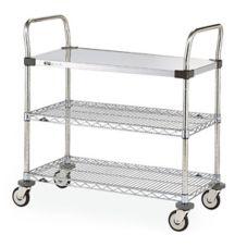 """Metro® MW406 24"""" x 36"""" MW400 Series Standard Duty Utility Cart"""