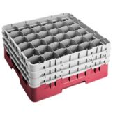 "Camrack 36S738163 Red 36 Compartment 7-3/4"" with 3 Extenders - 3 / CS"