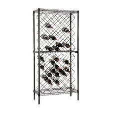 Focus Foodservice FDWR82BK Black 82 Bottle Display Wine Rack