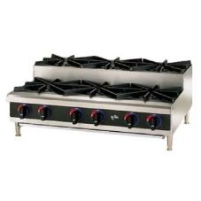 Star® 606HF-SU Star-Max® Gas Step-Up 6-Burner Hot Plate