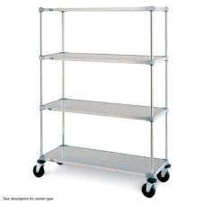 "Metro F436EG Super Erecta Shelf® 21 x 36 x 68"" Stem Caster Cart"