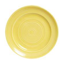 """Tuxton® CSA-120 Concentrix 12"""" Round Saffron Plate - 6 / CS"""