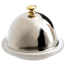 Revol® USA 617511 2-1/2 Oz White Butter Dish With S/S Lid - 6 / CS