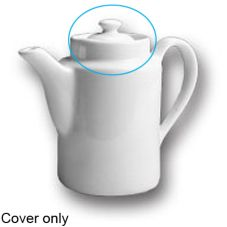 Hall China 51 1/2-C-WH Cover for White 12 Oz. Coffee Pot - 12 / CS
