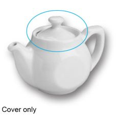 Hall China 1640-C-WH White Cover for #1640 Flat Sided Teapot - Dozen