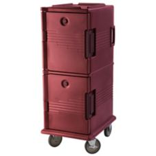Cambro UPC800TR402 Brick Red 60 Qt. Ultra Camcart Food Pan Carrier
