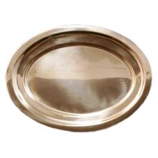 "Dover Metals P-1450 Copper 19"" x 14-1/2"" Oval Platter - 1 / CS"