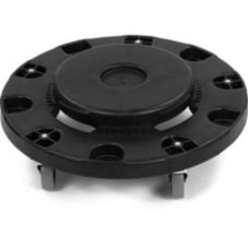 Carlisle® 3691103 Bronco Black Standard Round Container Dolly