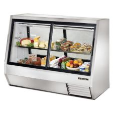 True® Pass-Thru 35 Cu Ft Deli Case w/ 2-Front and 2-Rear Doors