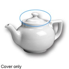 Hall China 20-C-WH White Knob Cover for 8 Oz. Boston Tea Pot - 12 / CS
