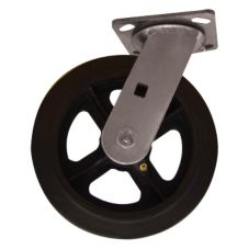 "Win-Holt® 7324 Swivel Plate Caster with 6 x 2"" Rubber Wheel"