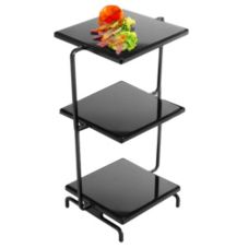 Gourmet Display® SS2300-1 Strata Black 3-Tier Acrylic Stone Tower