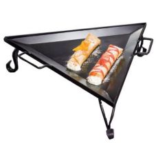 American Metalcraft GST77 Triangular Wrought Iron Griddle w/ Stand