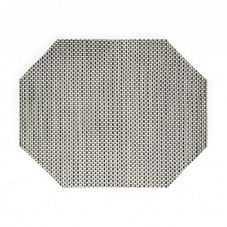 "FOH® XPM043SIV83 11"" x 14"" Basketweave Mat- 12 / CS"