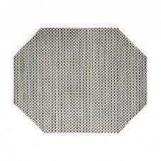 "FOH® XPM043SIV83 11"" x 14"" Basketweave Mat- 12 / CS"