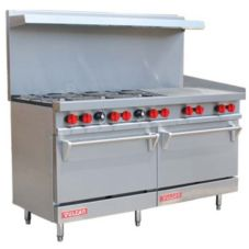 "Vulcan Hart V60F V Series 63"" Gas Restaurant Range with 6 Burners"