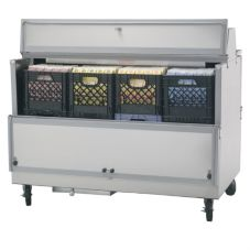 "Beverage-Air 58"" Stainless Steel School Milk Cooler"