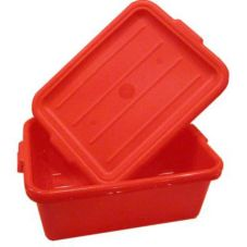 Vollrath 1505-C02 Traex Red Food Storage Box with Drain Box Insert