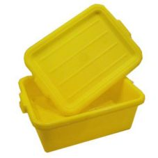 Vollrath 1505-C08 Traex Yellow Food Storage Box with Drain Box Insert