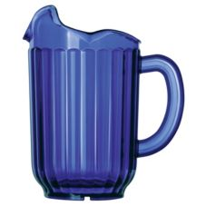 Vollrath 6010-44 Traex Cobalt Blue 60 Oz. 3-Lip Tuffex Deluxe Pitcher