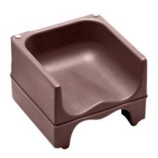 Cambro 200BC1131 Dark Brown Dual Height Booster Seat with No Strap