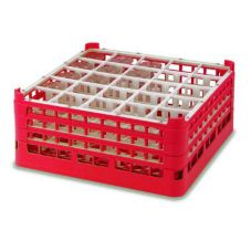 Vollrath 5271299 Burgundy Full Size 25-Compartment X-Tall Glass Rack