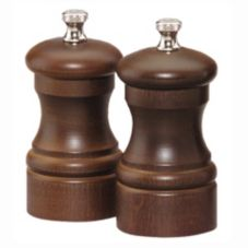 "Chef Specialties 4102 4"" Capstan Walnut Salt Mill / Pepper Mill Set"