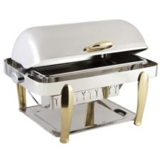 Bon Chef 10040 Manhattan Stainless Steel Non-Dripless 2 Gallon Chafer