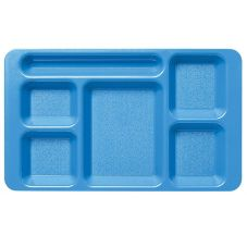 "Camwear 1596CW168 Blue 9"" x 15"" Tray with 2x2 Compartment - 24 / CS"