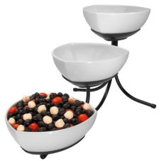 Gourmet Display SR402-B-2 Sierra 3-Tier Display Stand with 3 Bowls