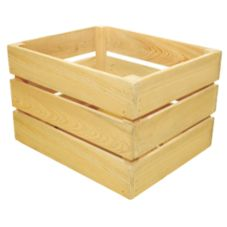 Crate Farm OC-1512-RW Half Bushel Raw Wood Orchard Crate