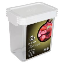 ClickClack® 500502 Airtight Storers .9 Qt Canister With White Lid