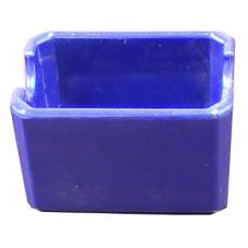 "Prolon 9235 Cobalt Blue 3.5 x 2.5 x 2"" Melamine Sugar Caddy - 24 / CS"