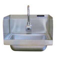 Amtekco DH26D Wall Mount Hand Sink w/ Sensor Faucet + Double Splashes