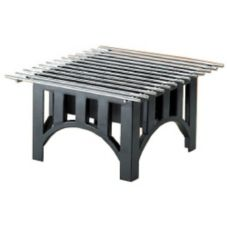 "Cal-Mil 1360-12-13 Black 12"" Sq. Bridge Style Cook N Serve Riser"