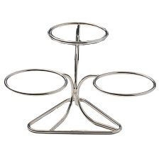 Bon Chef 9310 PEWTER Aluminum Plate Stand with (3) S/S Rings