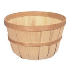 Texas Basket Co. 430 Natural Wood Apple Basket