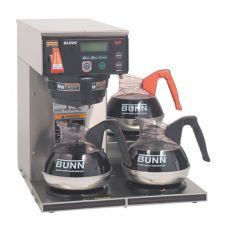 BUNN® 38700.0002 AXIOM 200 Oz. Coffee Brewer with 3 Lower Warmers