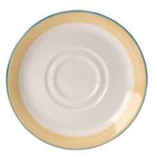 "Steelite Simplicity Rio Yellow 5-3/4"" Double Well Saucer"