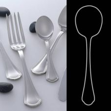 "Steelite 5307S061 Leopardi S/S 8-3/4"" Serving Spoon - Dozen"