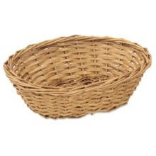 "Alegacy® 4497 Willow 9 x 7 x 3"" Oval Bread Basket - Dozen"